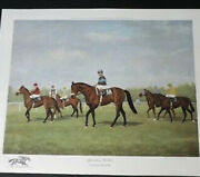 Artist Richard Stone Reeves 1919-2005 Andlsquoapproaching The Startandrsquo Print