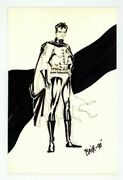 Original Robin Sketch Artwork By Mike Bair Hand Signed Pencils Batman Art Print