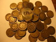 1 Roll 50 Coins 1863 Indian Head Cents / Good Or Better