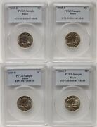 Lot Of 4 2005 P And D Bison Buffalo Jefferson Nickel Pcgs Sample Slabs