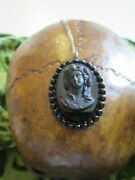 Haunted Witch Craft Black Cameo Sterling Silver And Egg Shaped Jew Box