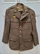 1942 Wwii Us Army Air Corp Forces Military Officers Wool Jacket Coat - 39r