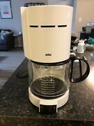 Braun Aromaster 10 Cup Coffee Maker Type 4085 White - Made In Germany Works