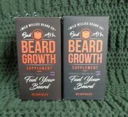 2x Wild Willies Beard Growth Supplement 60 Capsules Ea. Exp 03/2021 And 09/2022