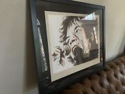 Ronnie Wood Art Voodoo Mick Mick Jagger Hand Signed Rolling Stones Framed
