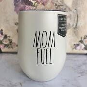 Rae Dunn Mom Fuel Insulated Wine Glass Bpa Free 12oz Double Walled