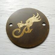 Harley Point Cover -solid Brass - Engraved W/patina - - - A New Item