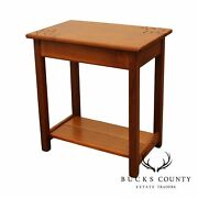 Lance Munn Arts And Crafts Style Custom Crafted Walnut Side Table