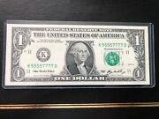 2006 1 Fancy Numbers 55557777 Double Quad Set Gem Unc Rare-only One