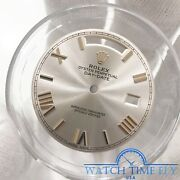 Rolex Factory 228235 Rose Gold Day-date 40 Sundust Bevelled Roman Dial Dial Only