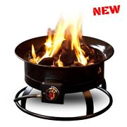 Portable Gas Fire Pit Kit Fireplace Heater Bowl Propane Picnic Outdoor Camping