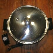 Saladmaster 7256 Electric Oil Core Excellent 12 In Skillet With Lid And Power Cord