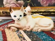 Hull Pottery Siamese Cat And Kitten Planter 12 Inch Long 63 Usa Vintage Nice