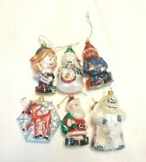 6 Rudolph The Red-nosed Reindeer Island Of Misfit Toys Glass Ornament Set