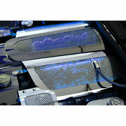 Acc Fuel Rail Covers W/blue Led Fits 08-13 Corvette-replacement Steel/perforated
