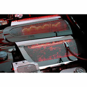 Acc Fuel Rail Covers W/red Led Fits 2006-12 Corvette Z06-replacement Perforated