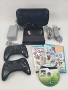 Nintendo Wii U 32gb Deluxe Console Gamepad Bundle - X2 Pro-controllers And X3 Game