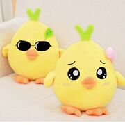 25-70cm Yellow Chicken Plush Dolls Kawaii Soft Stuffed Animal Toys Decoration