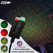 Usb Car Interior Atmosphere Starry Sky Lamp Ambient Star Light Dual-colors-green