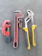 Plumbers Tools Job Lot/pipe Cutter/plumbing Tools/monkey Wrench/adjustable Grips