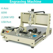 Usb Er20 4axis 2.2kw 6090 Cnc Router Metal Engraver Milling Drilling Machine+rc