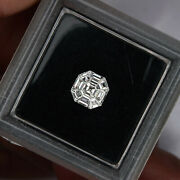 Pie-cut Asscher 6.2mm 9pcs Set F Vvs Loose Natural White Diamonds 0.39ct Octagon