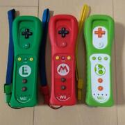 Nintendo Wii Official Remote Controller Mario And Luigi And Yoshii Motion Plus Wii U