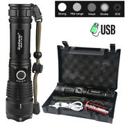 Garberiel Super-bright Flashlight 990000lm Usb Rechargeable Tactical Torch 26650