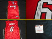 Mint Condition Lebron James Signed Miami Heat Jersey Autographed Coa Global Auth