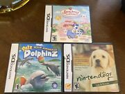 Video Game Lot Nintendo Ds Strawberry Shortcake, Pets Dolphins And Nintendo Dogs