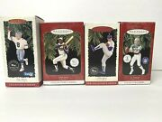 Hallmark Keepsake Lot Of 4 Sports Ornaments Collectors Series With Trading Card