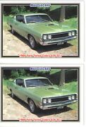 1969 Ford Torino Cobra 428 Scj Baseball Card Sized Cards - Must See