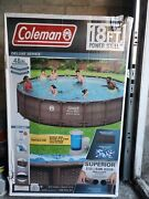 Coleman Deluxe Series 18ft X48 Above Ground Swimming Pool W/ Pump Local Pick Up