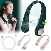 Portable Hi-tech Rechargeable Bladeless Neck Fan Personal Air Conditioner Cooler