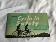 How To Cycle In Safety Featuring Sally And Mac Aetna Insurance Bklt 1940s Bicycle