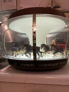 Original 1960andrsquos Budweiser Clydesdale Parade Spinning Bar Lamp Still Works 100