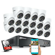 Annke H.265+ 5mp 16ch Dvr Mp Video Outdoor Security Camera System Pir Detection
