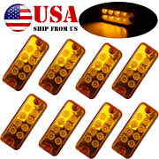 For Truck Trailer Caravan 8pc Amber Clearance Indicator Side Marker Tail Lamp