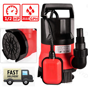 Submersible Water Pump Sump With Float Switch Portable Clean/ Dirty 0.5hp 400w