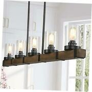 Farmhouse Chandeliers For Dining Room,5-lights Kitchen Island