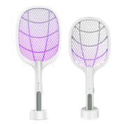 3 In 1 Electric Bug Zapper Insect Killer Fly Swatter 3000 Volt Usb Charging