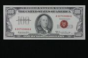 Low Serial Hg 100 1966a Red Seal Legal Tender Us Note A00769866a Series A