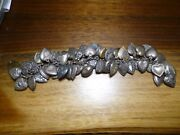 Vintage Sterling Silver 45 Puffy Engraved Heart Charm Bracelet Plus 6 Misc Charm