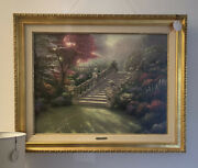 Thomas Kinkade Stairway To Paradise 25.5 By 34 Canvas, Signed Framed Lithograph