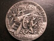 Sterling Silver Battle Of New Orleans 1815 Round Coin Commemorative