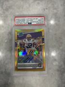 2020 Clyde Edwards-helaire Don Russ Optic Rated Rookie Gold Auto 04/10 Psa 9