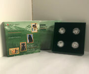 1997 Sterling Silver 50 Cent 4-coin Set Canadaand039s Best Friend 624557