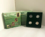 1996 Sterling Silver 50 Cent 4-coin Set Canadaand039s Little Wild Ones