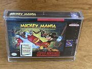 Mint Mickey Mania Timeless Adventures Of Mickey Mouse Factory Sealed New Snes