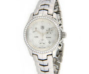 Tag Heuer Link Cjf1314 M.o.p Diamond Dial And Bezel Ladies Watch W/ Box And Papers